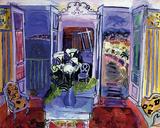 Intérieur à la fenêtre ouverte Reproduction procédé giclée par Raoul Dufy