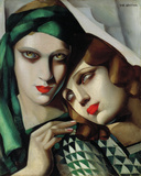 The Green Turban Giclee-trykk av Tamara de Lempicka