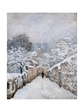 Snow in Louveciennes Posters by Alfred Sisley