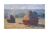 Haystacks, End of the Summer, Morning Effects Poster von Claude Monet