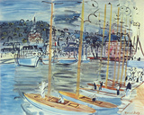 Les Bateaux Giclee Print by Raoul Dufy
