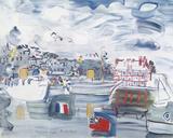 Deauville 1938 Reproduction procédé giclée par Raoul Dufy