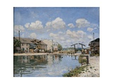 Canal Saint Martin Print by Alfred Sisley