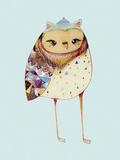 Owl I Gicléedruk van Ashley Percival