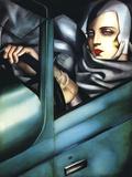Self Portrait Giclee-trykk av Tamara de Lempicka