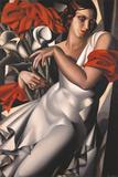 Portrait of Ira Perot Gicléetryck av Tamara de Lempicka