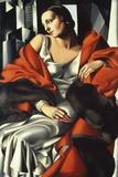 Portrait of Mrs Boucard Giclee-trykk av Tamara de Lempicka