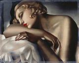 The Sleeping Girl Giclee-trykk av Tamara de Lempicka