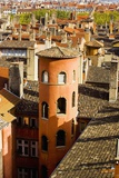 Towers and Roofs in Old Lyon Reproduction photographique par Massimo Borchi
