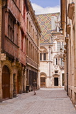 The Streets of Old Dijon and Hotel Aubriot, Dijon, Burgundy, France, Europe Photographic Print by Julian Elliott