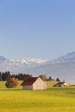 Cottage in Prealps Landscape, Fussen, Ostallgau, Allgau, Allgau Alps, Bavaria, Germany, Europe Valokuvavedos tekijänä Markus Lange