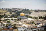 View over the Old City with the Dome of the Rock Photographic Print by Yadid Levy