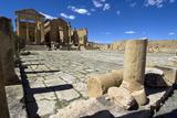 The Capitol Temples (Capitolium), Roman Ruins of Sbeitla, Tunisia, North Africa, Africa Stampa fotografica di Ethel Davies