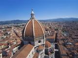 Dome of the Duomo, Florence, Italy, Europe Impressão fotográfica por Hans Peter Merten