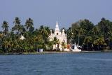 Church on the Shores of Ashtamudi Lake, Kollam, Kerala, India, Asia Impressão fotográfica por Balan Madhavan