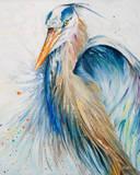 New Blue Heron II Kunstdrucke von Patricia Quintero-Pinto