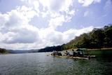 Bamboo Rafting, Periyar Tiger Reserve, Thekkady, Kerala, India, Asia Impressão fotográfica por Balan Madhavan