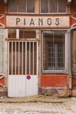 An Old Piano Store in the City of Dijon, Burgundy, France, Europe Photographic Print by Julian Elliott