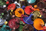 Colourful Tajines, Essaouira, Atlantic Coast, Morocco, North Africa, Africa Fotografie-Druck von Stuart Black