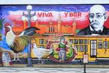 Mural by Chico in Ybor City Historic District Fotografisk trykk av Richard Cummins