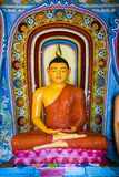 Colourful Buddha Statue at Isurumuniya Vihara Photographic Print by Matthew Williams-Ellis