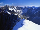 Mont Blanc Mountain Range, Alps, Haute Savoie, France Fotografisk tryk af Roy Rainford