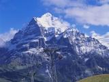 Wetterhorn Mountain, Grindelwald, Bernese Oberland, Switzerland Impressão fotográfica por Hans Peter Merten