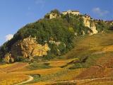 Hill Village of Chateau Chalon in the Jura, Franche Comte France Reproduction photographique par Michael Busselle