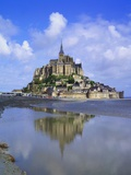 Mont-Saint-Michel, Normandy, France Fotografisk tryk af Roy Rainford