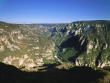 Valley in Lozere, Languedoc-Roussillon, France Photographic Print by David Hughes