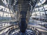 Interior of the Bundestag, Berlin, Germany Impressão fotográfica por Hans Peter Merten
