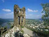 Grevenburg Castle Ruin, Mosel, Germany Impressão fotográfica por Hans Peter Merten