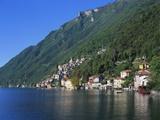 Lake Lugano, Lombardy, Italy Photographic Print by Richard Ashworth