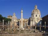 Trajan's Forum, Rome, Italy Impressão fotográfica por Hans Peter Merten