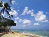 Beach at Paynes Bay, Barbados, Caribbean Impressão fotográfica por Hans Peter Merten