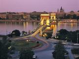 Chain Bridge, Budapest, Hungary Photographic Print by Gavin Hellier