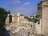 Tower of the Winds and Roman Agora, Athens, Greece Impressão fotográfica por Hans Peter Merten