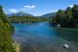 Crystal Clear Water in the Los Alerces National Park, Chubut, Patagonia, Argentina, South America Lámina fotográfica por Michael Runkel