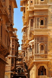 Patwa Havelis, Renowned Private Mansion in Jaisalmer, Rajasthan, India, Asia Impressão fotográfica por  Godong