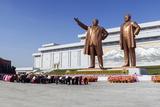 Statues of Former Presidents Kim Il-Sung and Kim Jong Il Photographic Print by Gavin Hellier