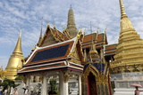 The Temple of the Emerald Buddha, Grand Palace, Bangkok, Thailand, Southeast Asia, Asia Photographic Print by Jean-Pierre De Mann