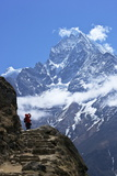 Trail Between Namche Bazaar and Everest View Hotel Reproduction photographique par Peter Barritt