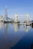 The Shard and Tower Bridge Stand Tall Above the River Thames Reproduction photographique par Charles Bowman