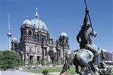 Altes Museum with Berlin Cathedral, Berlin, Germany Impressão fotográfica por Hans Peter Merten