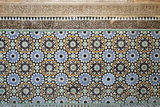 Architectural Detail of Traditional Zelliges and Frieze, Marrakesh, Morocco, North Africa, Africa Fotografisk tryk af Guy Thouvenin