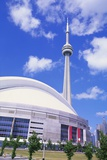 Cn Tower and Skydome, Toronto, Canada Fotografisk tryk af Roy Rainford
