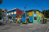 Colourful Houses in La Boca Neighbourhood in Buenos Aires, Argentina, South America Lámina fotográfica por Michael Runkel