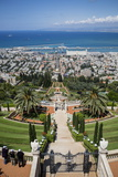 View over the Bahai Gardens, Haifa, Israel, Middle East Photographic Print by Yadid Levy