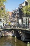 Bridge over Brouwersgracht, Amsterdam, Netherlands, Europe Photographic Print by Amanda Hall