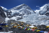 Khumbu Icefall from Everest Base Camp Photographic Print by Peter Barritt